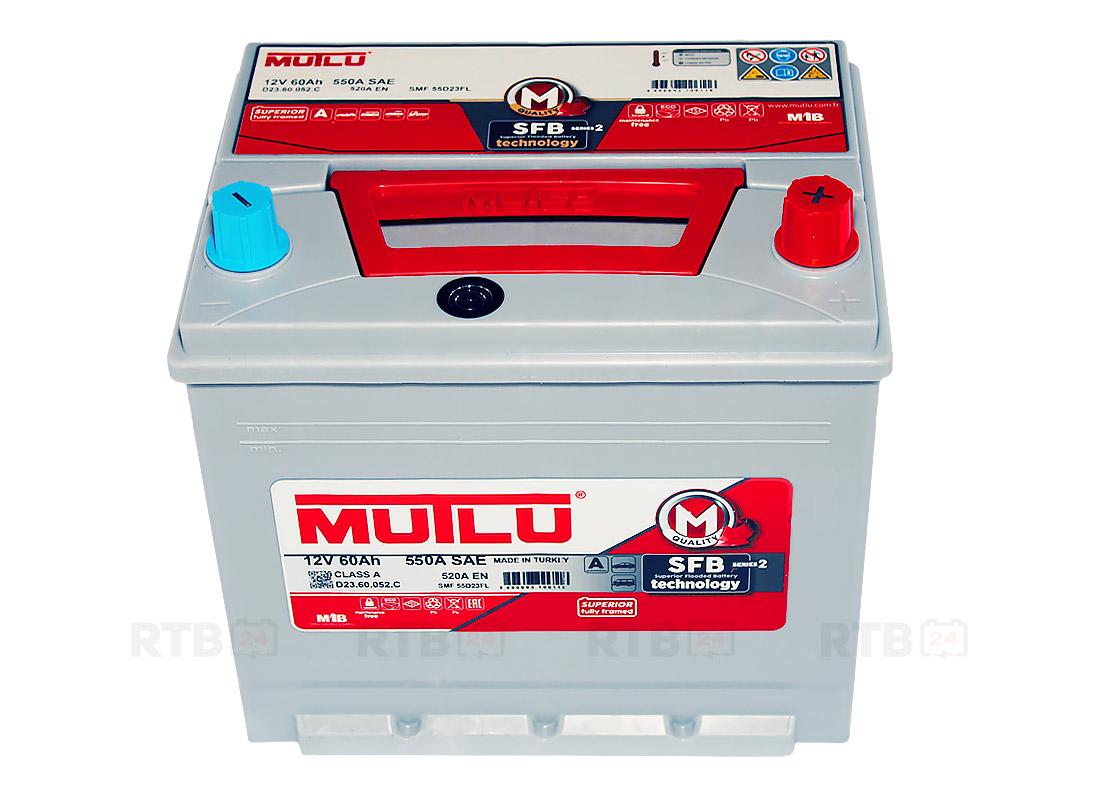 Аккумулятор MUTLU 60Ah 12V 520A D23C