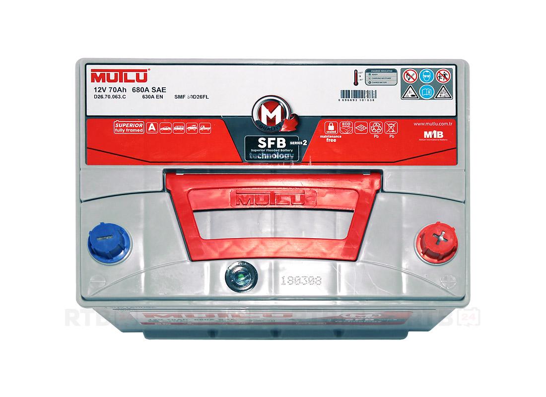 Аккумулятор MUTLU 70Ah 12V 630A D26C