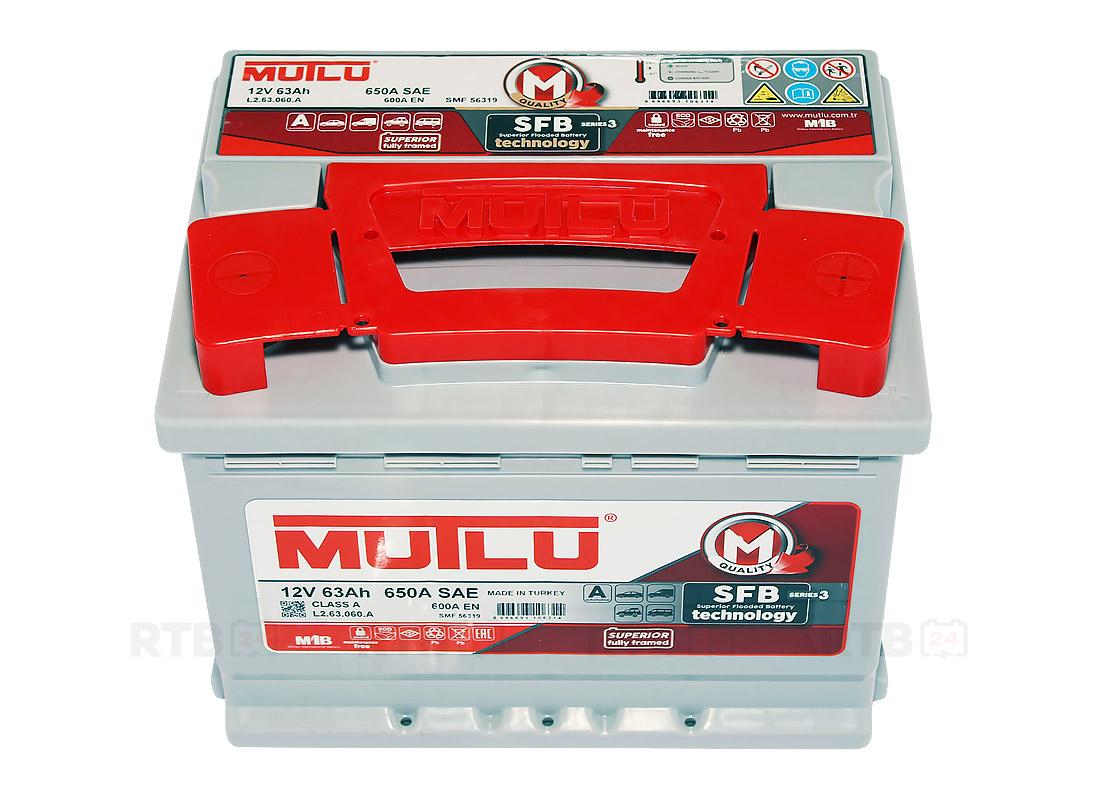 Аккумулятор MUTLU 63Ah 12V 600A L2A