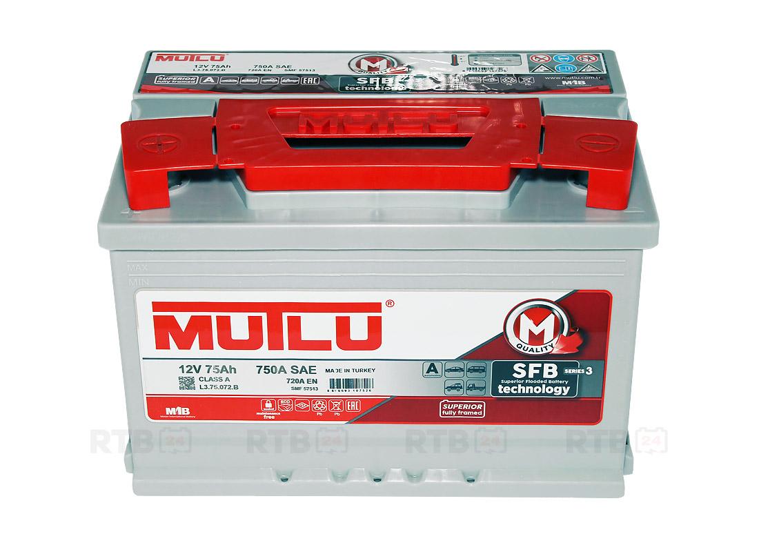 Аккумулятор MUTLU 75Ah 12V 720A L3B