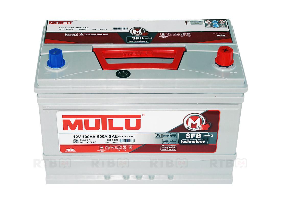 Аккумулятор MUTLU 100Ah 12V 850A D31С