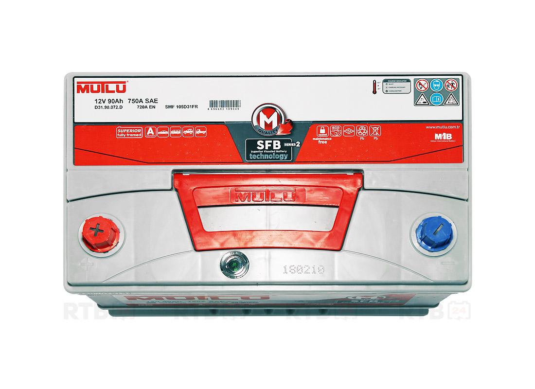 Аккумулятор MUTLU 90Ah 12V 720A D31D