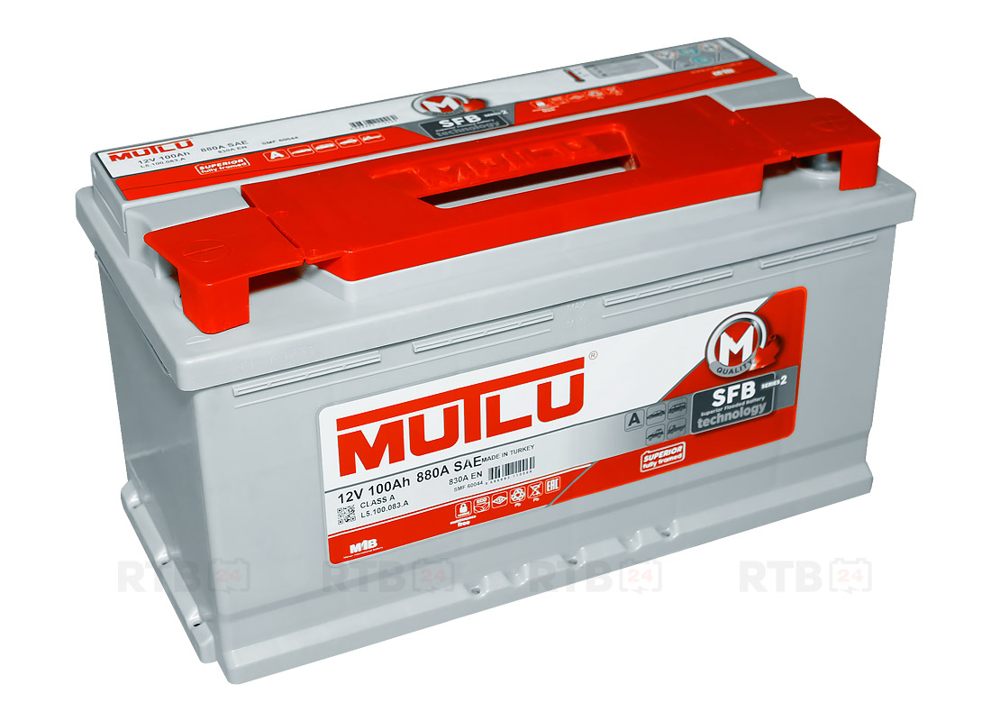 Аккумулятор MUTLU 100Ah 12V 830A L5A